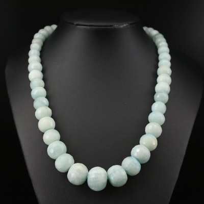 Beryl Graduated Necklace with Magnetic Clasp
