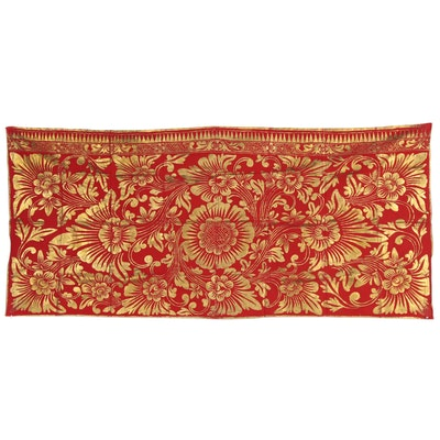 Balinese Gold-Tone Painted Prada Cloth, Late 20th Century