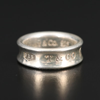 "Tiffany & Co. ""1837"" Sterling Silver Concave Band"