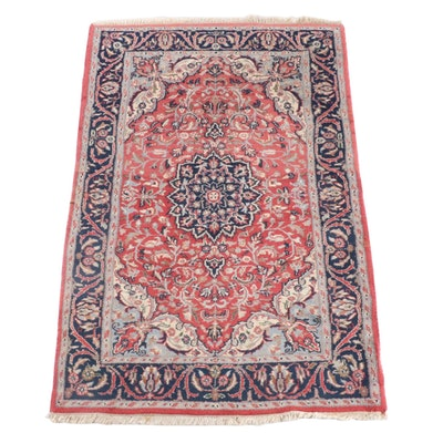 3'9 x 6'2 Hand-Knotted Persian Nahavand Wool  Rug