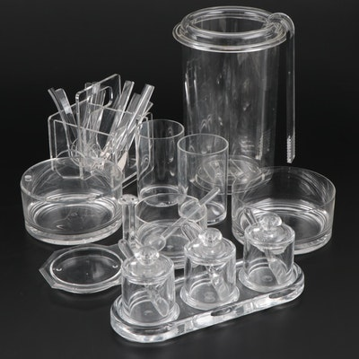 Guzzini Clear Acrylic Barware and Table Acessories