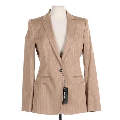 Dolce & Gabbana Blazer in Pinstripe Cotton