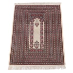 4'3.5 x 6'5 Hand-Knotted Persian Mehrab Qum Wool Prayer Rug