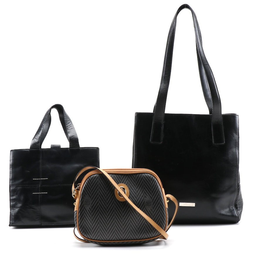Mark Cross, Desmo and DKNY Coated Canvas and Leather Handbags