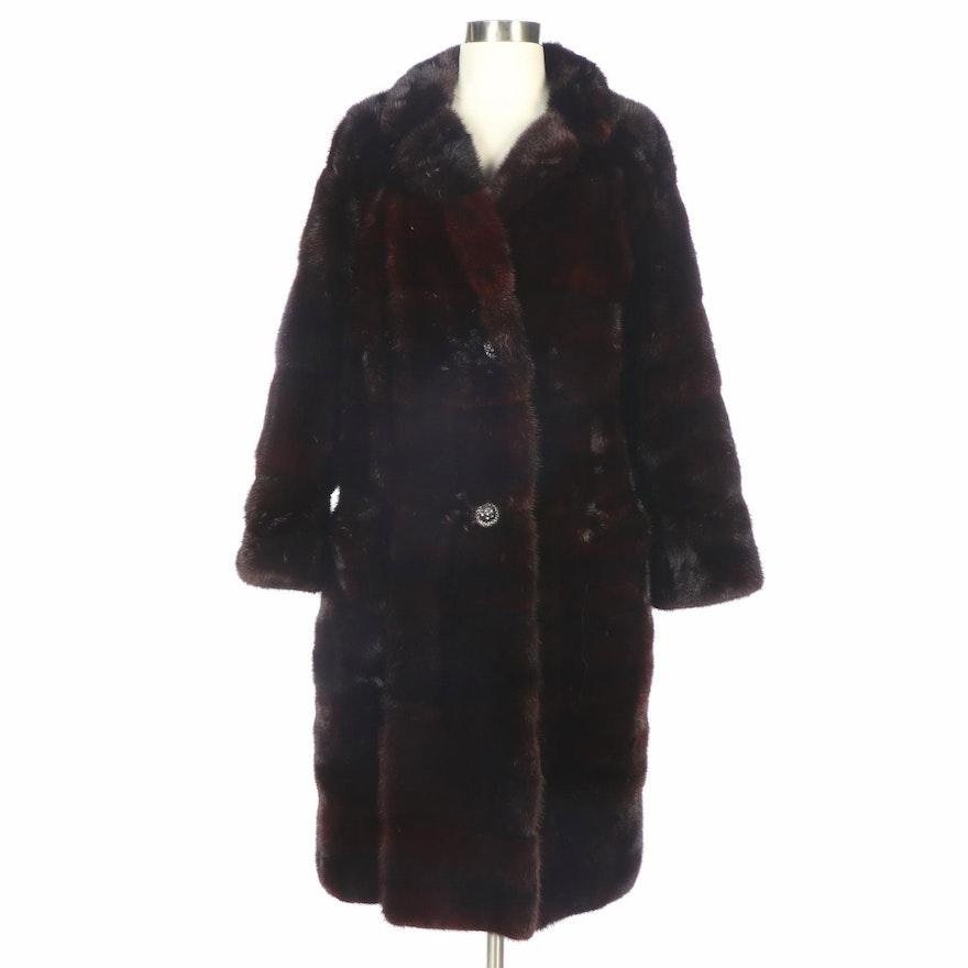 David of New York Mahogany Mink Fur Coat