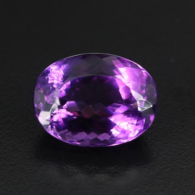 Loose 26.00 CT Oval Faceted Amethyst