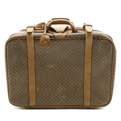 Gucci Micro GG Coated Canvas and Leather Suitcase