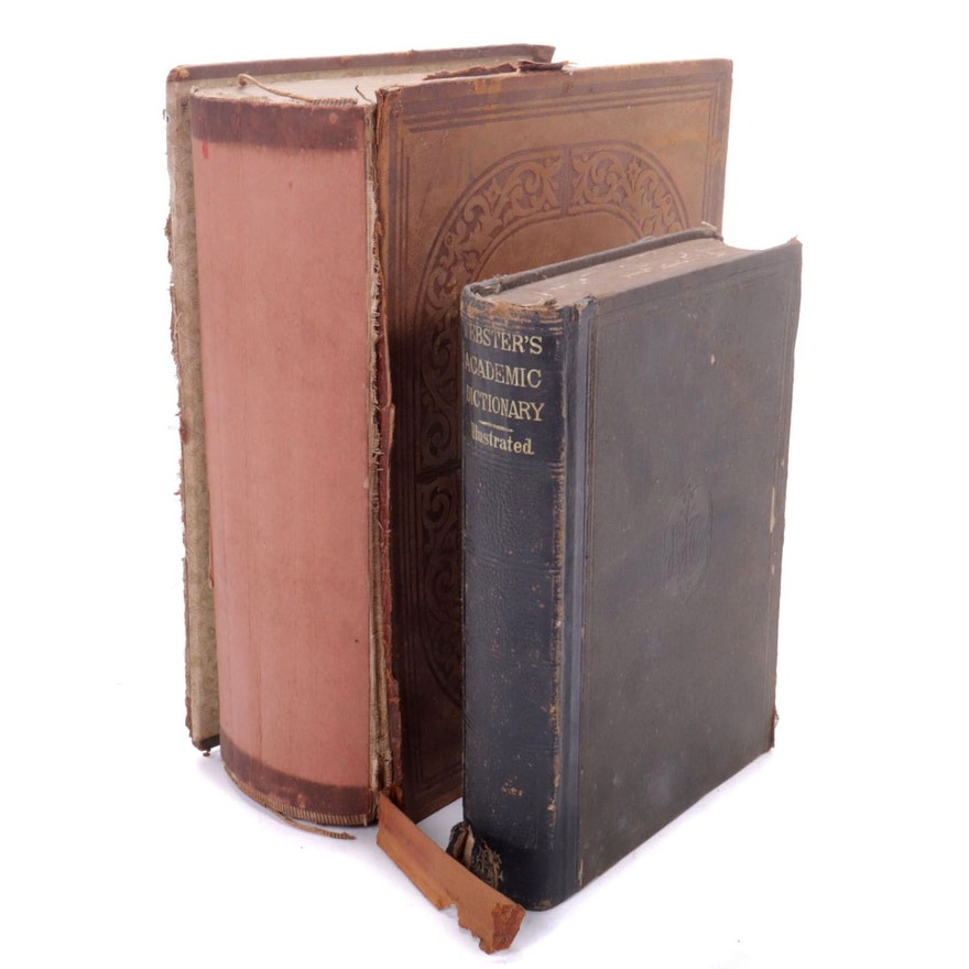 Webster's Academic and American English Dictionaries, Mid to Late 19th Century