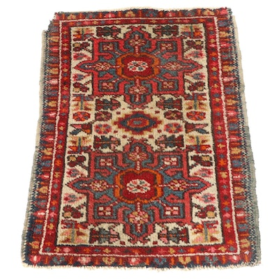 1'10 x 2'7 Hand-Knotted Persian Karajeh Accent Rug, 1920s