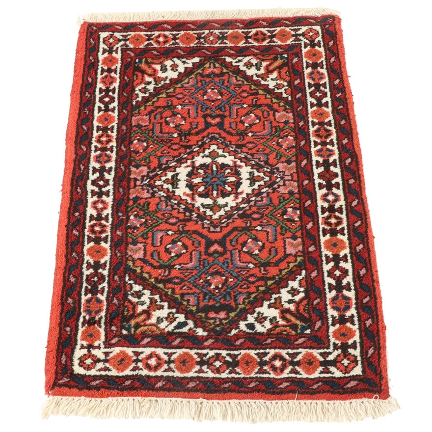 2'0 x 3'3 Hand-Knotted Indo Persian Malayer Accent Rug, 1990s