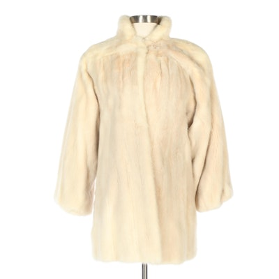 Thomas E. McElroy Mink Fur Swing Coat with Banded Cuffs