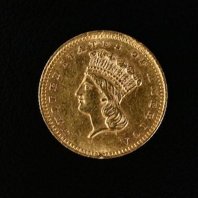 1861 Indian Princess Head $1 Gold Coin