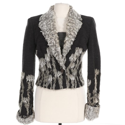 Luca Luca by Luca Orlando Wool Blend Jacket and Mohair Wool Blend Knit Tank