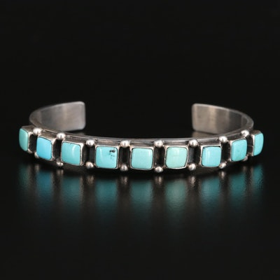 Paul Begay Navajo Diné Sterling Turquoise Cuff