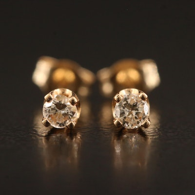 14K 0.10 CTW Diamond Stud Earrings