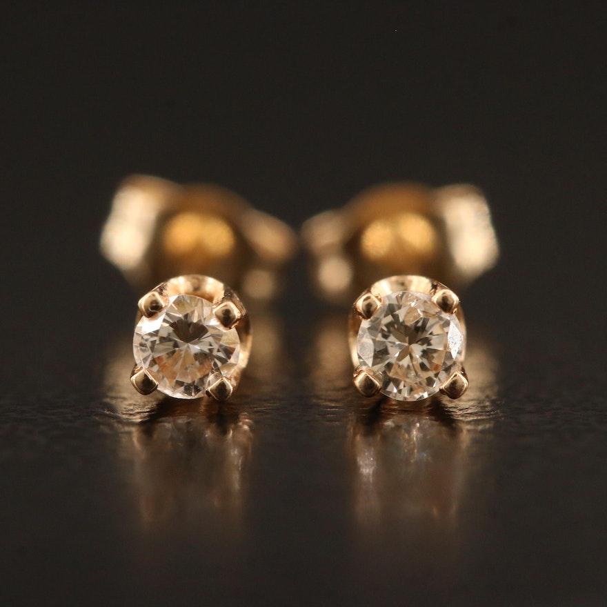 14K 0.10 CTW Diamond Stud Earrings