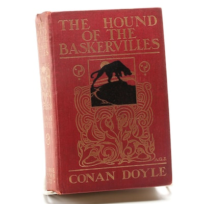 "First UK Edition ""The Hound of the Baskervilles"" by Arthur Conan Doyle, 1902"