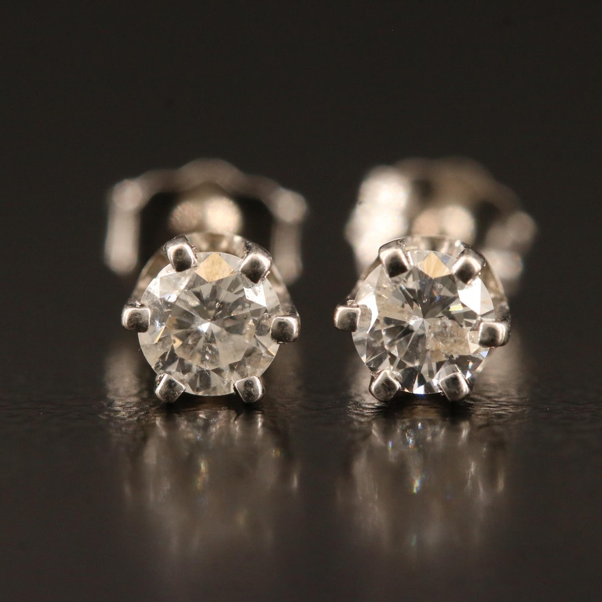 14K 0.38 CTW Diamond Stud Earrings