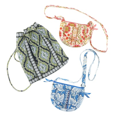 Vera Bradley Quilted Backpack with Shoulder Bags in Various Patterns