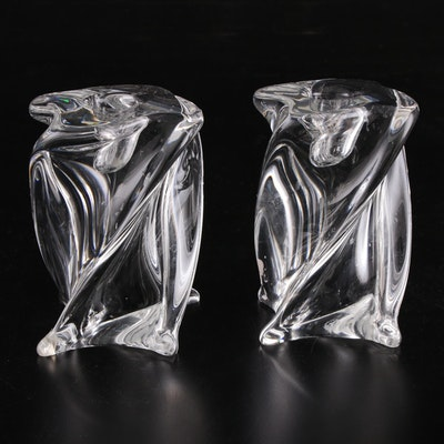 "Baccarat ""Odilon"" Crystal Candlestick Holders"