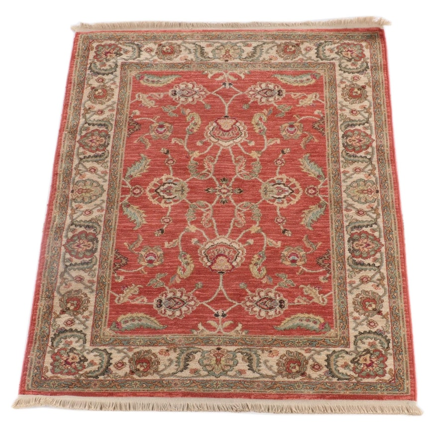 "4'4 x 6'3 Machine Made Karastan ""Agra"" Wool Area Rug"