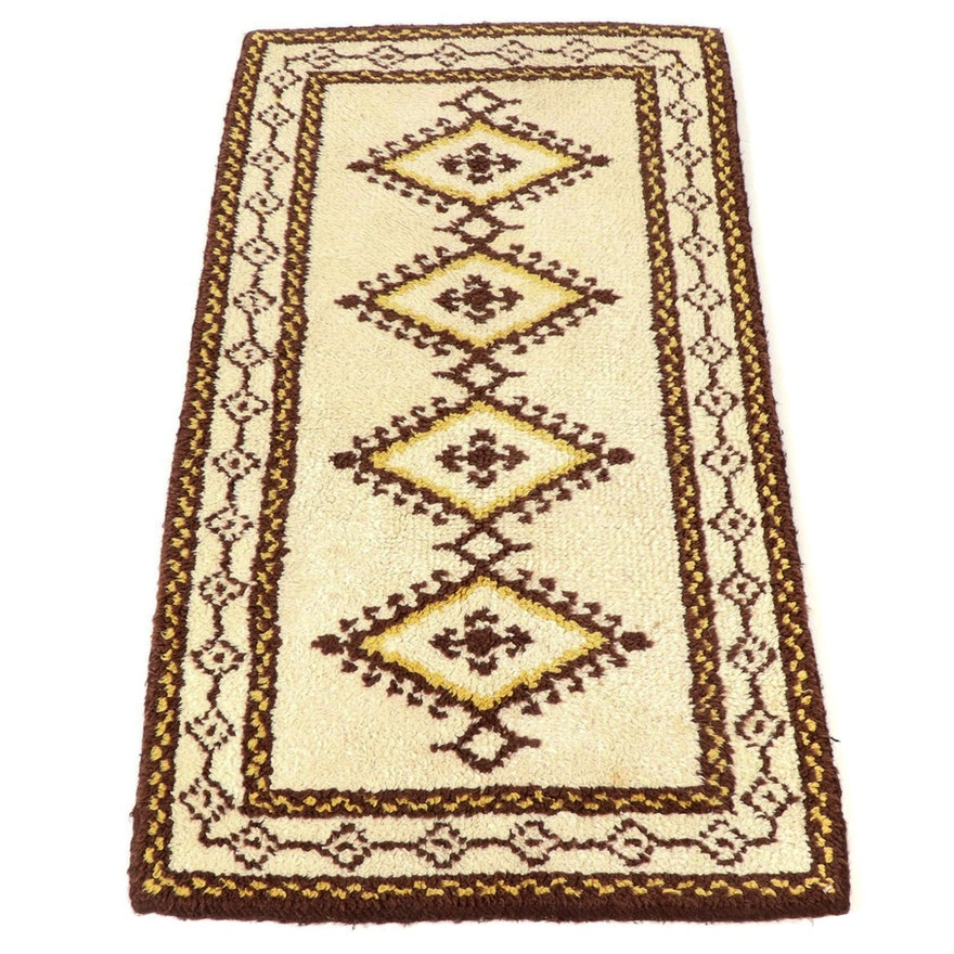 2'4 x 4'6 Hand-Knotted Moroccan Rug, 1980s