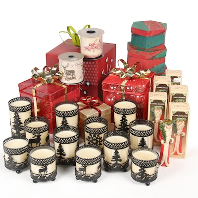 Christmas Ornaments, Candle Holders and Table Decor