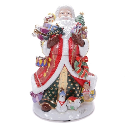 "Christopher Radko ""Kris Kringle"" Cookie Jar"