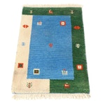 2'0 x 3'3 Hand-Knotted Indo Persian Gabbeh Pictorial Rug, circa 2000