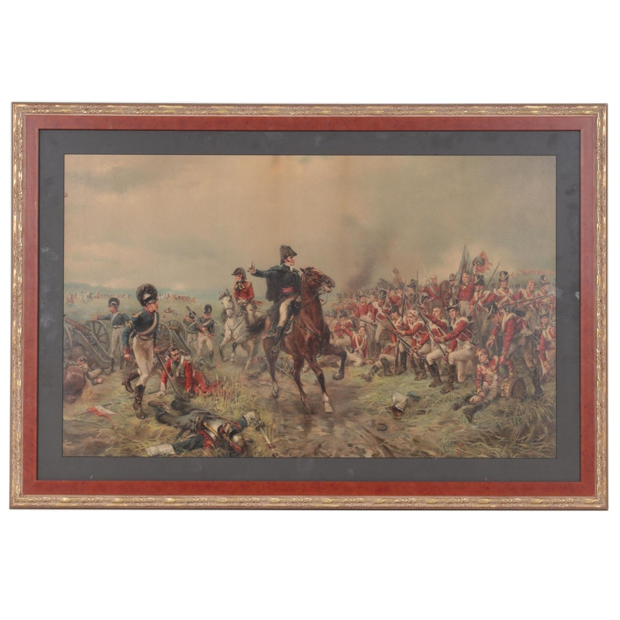 """Textured Giclee after Robert Hillingford """"The Duke of Wellington at Waterloo"""""""