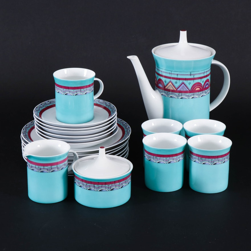 "Rosenthal ""Lichterfelde"" Tea Service with Dessert Plates, 20th Century"