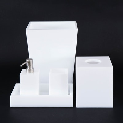 """Mike + Ally """"Ice"""" Resin Bathroom Accessories, Contemporary"""