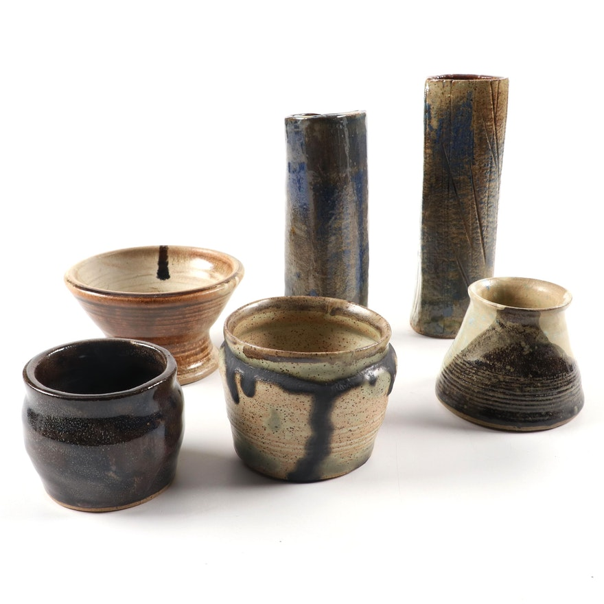 Ceramic Cups and Vessels, Late 20th Century