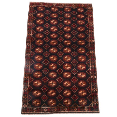 3'11 x 6'5 Hand-Knotted Russian Bokhara Wool Rug