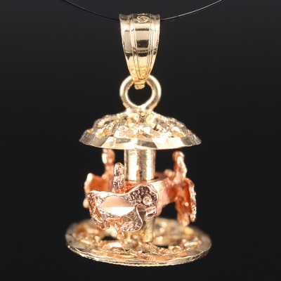 14K Articulated Carousel Charm