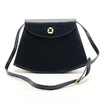 Salvatore Ferragamo Navy Leather Shoulder Bag