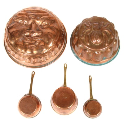 Christian Wagner Copper Bakeware and Pans, Mid-20th Century