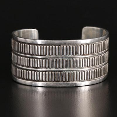 Artisian Signed Sterling Silver Cuff Bracelet