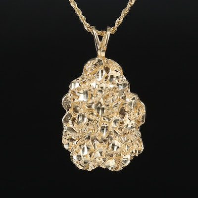 14K Nugget Style Necklace