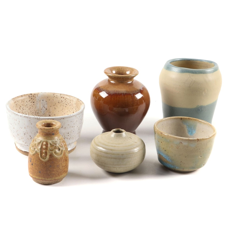 Ceramic Cups, Bowls and Vessels, Mid to Late 20th Century