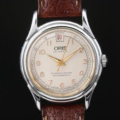 Oris 7317 Silver Tone Automatic Wristwatch