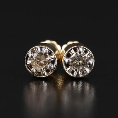 14K 0.50 CTW Diamond Illusion Stud Earrings