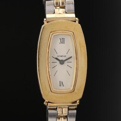 Vintage Geneve 18K Gold Stem Wind Wristwatch
