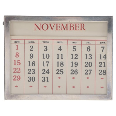Gorham Sterling Silver Perpetual Calendar