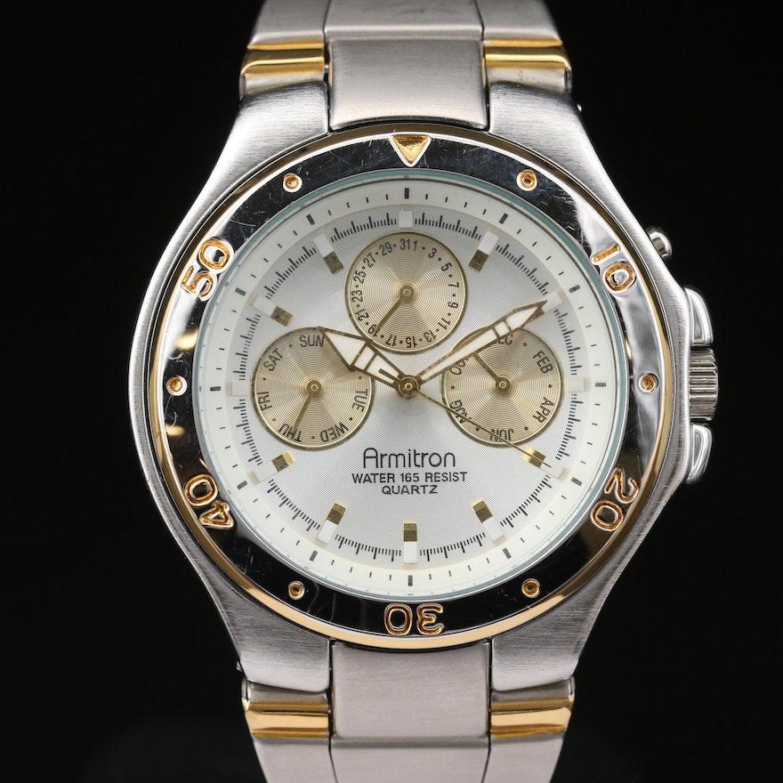 Armitron Calendar Two-Tone Quartz Wristwatch
