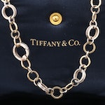 Tiffany & Co. 18K and Sterling Silver Circle Link Necklace