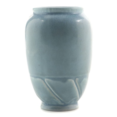 Rookwood Pottery Mottled Blue Glaze Production Vase, 1931
