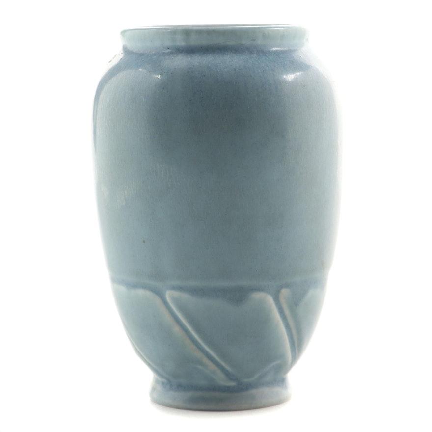 Rookwood Pottery Mottled Blue Glaze Production Vase, 1931