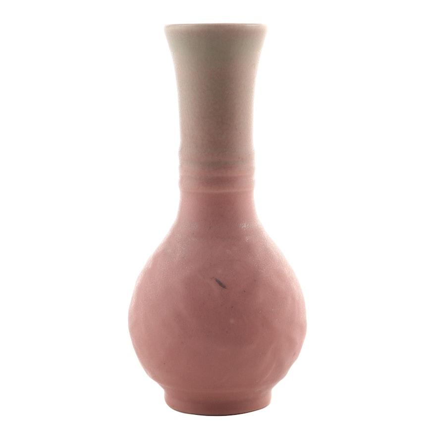 Rookwood Pottery Pink Wax Matte Glaze Production Vase, 1931