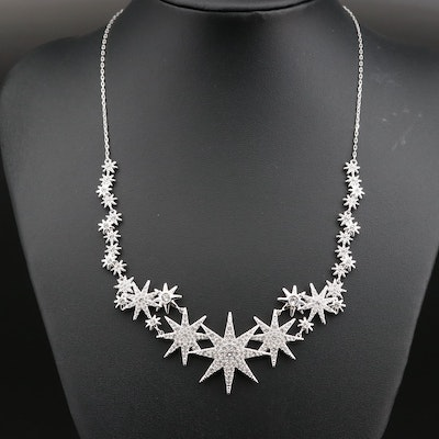 "Swarovski Crystal ""Star Sparkle"" Stationary Necklace"
